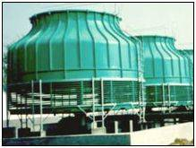 Round counter-flow FRP cooling tower